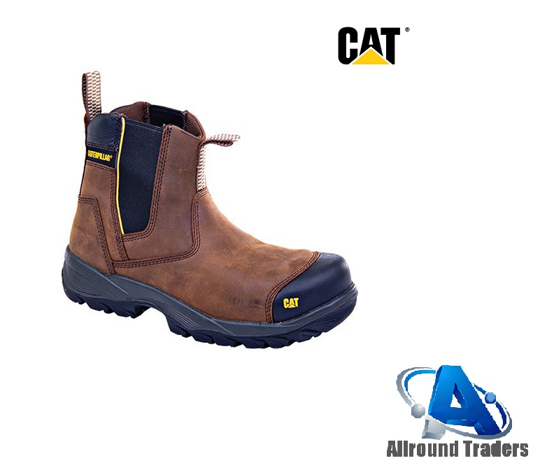 CAT-Propane-Slip-on-Safety-Boots-Brown